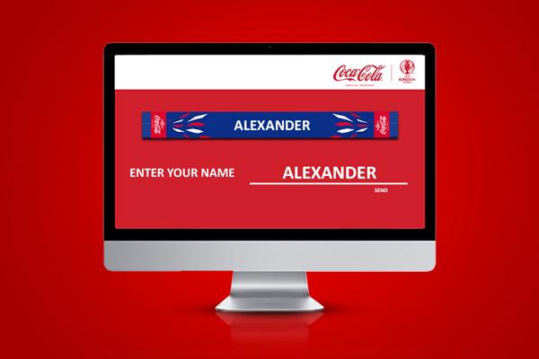 La bufanda personalizada de Coca-Cola