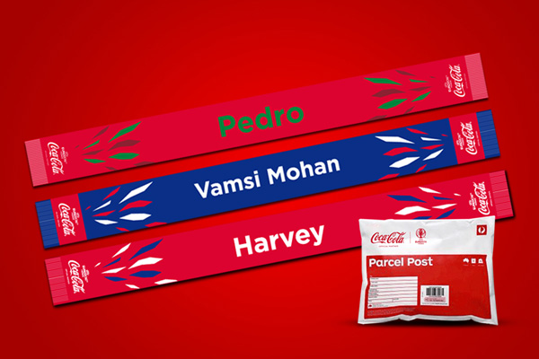 Coca-Cola Personalised Scarf